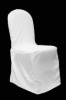 White Banquet Polyester Chair Cover